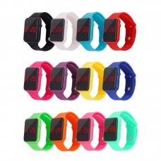 Fashion Child Kids Boy Watch LED Digital Bracelet Silicone Sports Wrist Watches