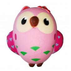 Kawaii Squishy Big Owl Soft Squeeze Bird Toy Phone Strap Stress Relieve Toy