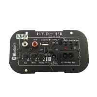 Subwoofer Amplifier Board Car Built-in Bluetooth FM Radio 220V/12/24V