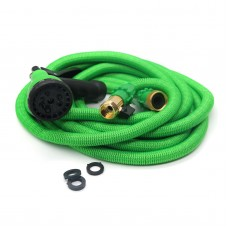 Latex Deluxe 50FT Expanding Flexible Garden Water Hose with Spray Nozzle