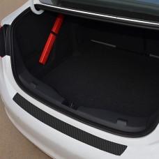 Rear Bumper Plate Door Sill Scuff Protective Sill Cover 3D Carbon Fiber Sticker Car Accessories