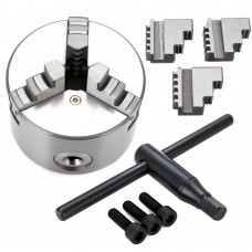 "k11-200 8"" 3 Jaw Self Centering Precision metal Lathe Chuck Shank Arbor Adaptor"