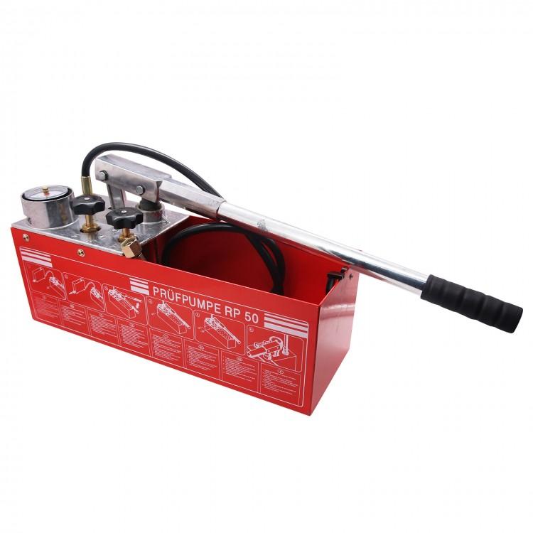 "Hydraulic Pressure Test Pump 50Bar Hand Pump Manual 800psi 1//2/"" Connection RP-50"