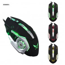 X500 USB Wired Gaming Mouse 3200DPI 6 Buttons  Mechanical Macros Game Mice