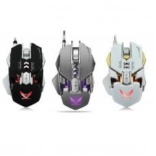 ZERODATE X300GY 4000DPI LED Optical USB Wired Gaming Mouse 7 Buttons for Gamer