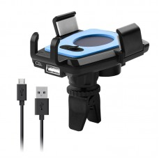 Electric Cell Phone Mount Holder Universal Clamp Charger Electric Air Vent Type