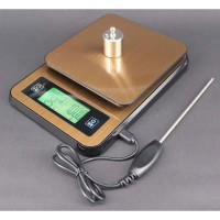 3kg/0.1g Digital Electronic Scale Kitchen Scale Stainless Steel Timing and Thermometer