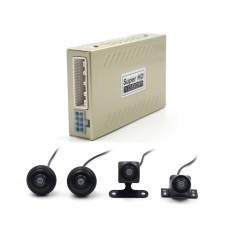 360 Degree Bird View Panorama System Parking Assistance All Around-View With Car DVR Recorder 4 Cameras 1080P