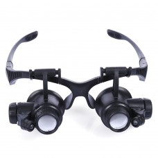 10X 15X 20X 25X Magnifier Magnifying Eye Glass Loupe Jeweler Watch Repair 2 LED