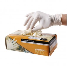 Disposable Latex Exam Gloves Medical Powder Rubber Latex Experiment Laboratory Room Working Gloves