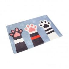 Cute Palm Print Short Plush Mat Bathroom Non slip Cotton Carpet Bedroom Blanket Mat Blanket for Living Room Bedroom