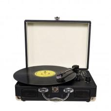 Portable Gramophone Portable Suitcase LP Vinyl Mmachine Antique Vintage LP Phonograph Record Player