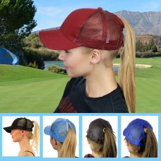 New Arrivals Woman's Ponytail Baseball Cap Summer Sun Protection Hats for Women Snapback Adjustable