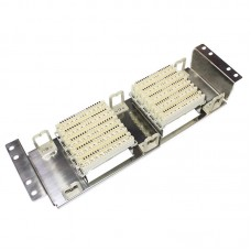Stainless Steel 100 Pairs Telephone Patch Panel Krone Voice Module VDF Distribution Frame