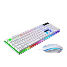 G21 Colorful Backlit Gaming Keyboard Mouse Combo With LED Rainbow Backlight Adjustable 1600DPI Game Mouse