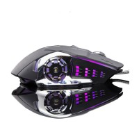 Macro Wired Gaming Mouse 6 Buttons Mechanical Design USB Optical Computer Mouse