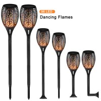 96 LED Solar Power Path Torch Light Dancing Flame Lighting Flickering Lamp Garden Outdoor