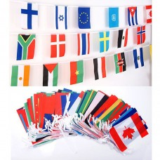 2018 Football World Cup 32 Countries 10M String Flag Banner Bar Party Decoration