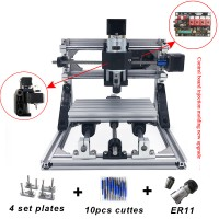 CNC1610 Engraving Machine GRBL Control Wood Carving Milling Working Area 16x10x4.5cm 3 Axis