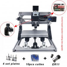 CNC Engraving Machine 1610 GRBL Control Wood Carving Milling Working Area 16x10x4cm 3 Axis