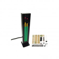 DIY AS60 Dual Channel 60 Segment Binaural Music Spectrum VU Meter Kit with Housing