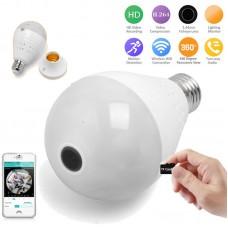 Bulb Light Lamp 960P HD WIFI IP Camera Security CCTV Video Monitor Hidden Camera