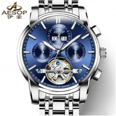 AESOP Fashion Men Watch Men Automatic Mechanical Wrist Wristwatch Sapphire