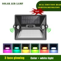Solar Motion Lights Dual Wall Security Outdoor Waterproof Sensor Wireless Garden Lamp