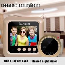 2.4 inch Screen Wireless Mini WiFi Doorbell Video Intelligent Speech Monitor Security