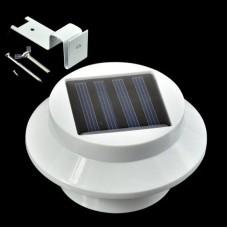 Solar New Power Powered Outdoor Garden Light Gutter Fence 3 LED Wall Bulb Lamp