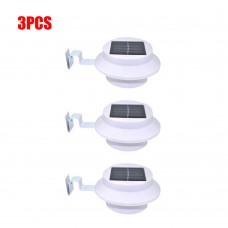 3pcs Solar Powered Light 3LED Gutter Light Outdoor/Garden/Yard/Wall/Fence/Pathway Lamp
