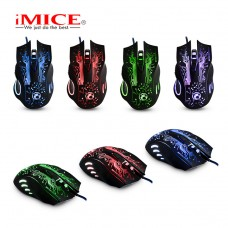 iMice X9 Ergonomic Gaming Mouse Optical Game Colorful Light Mice 6 Button