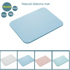 Bath Mat Diatom Mat/Pad Easy Absorbent Fast Drying Non-Slip for Bathroom S 30x30cm