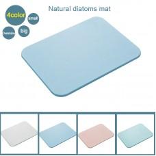 Bath Mat Diatom Mat/Pad Easy Absorbent Fast Drying Non-Slip for Bathroom L 39x60cm