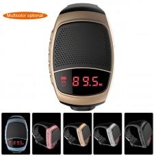 Mini B90 Bluetooth Sports Music MP3 TF FM Audio Radio Selfie Wrist Watch Speaker