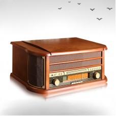 Phonograph Recorders Jukebox Bluetooth Stereo Speaker Antique Radio AM FM USB CD 8 in 1