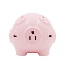 Cute Pig Socket US Plug 8 Outlet Travel Power 4USB Charging Station