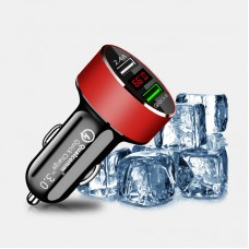 Car Charger 3.0 Quick Charge Digital Display Dual USB For iPhone Andriod Universal Mobile Phone