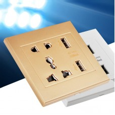 Universal USB Wall Socket Electrical Plug US UK EU AU Wall Socket 2 Port USB Outlet Power Charger for Cellphone