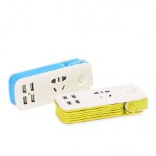 4 Ports USB Charger 5V 2.1A Fast Charging Travel Desktop Charger Adapter Socket