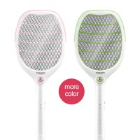 Electric Fly Mosquito Swatter Rechargeable Bug Wasp Zapper Racket Insect Killer Control