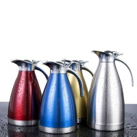 2.0L Stainless Steel Vacuum Thermos Flask Coffee Tea Pot Bottle Double Wall Insulate Flask Kettle