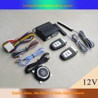 Car Alarm System Keyless Entry Engine Start Push Button Remote Starter Kit for 12V Cars