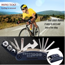 16 in 1 Multifunction Bicycle Repair Tool Kit Hex Spoke Cycling Screwdriver Tool Bike Repair Tool