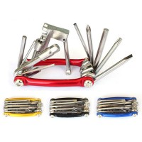 All-in-1 Bicycle Repair Tool Kit Multi Bike Repair Tool Chrome Vanadium Steel Chain Cutter 11-in-1