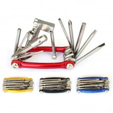All-in-1 Bicycle Repair Tool Kit Multi Bike Repair Tool Chrome Vanadium Steel Chain Cutter 11-in-1