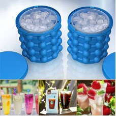 Ice Cube Maker Genie Space Saving Silicon Ice Bucket for Chilling Party Drink Cocktail Beverages
