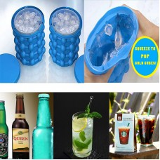 Ice Cube Maker Genie Space Saving Silicon Ice Bucket Kitchen Tool for Chilling Party Drink Beverages