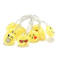 1.5M Emoji LED Light String 10 LEDs Battery Operated Fairy Lights for Party Home Decoration