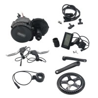 48V 1000W Bicycle Motor Conversion Kit Mid-Drive w/ Integrated Controller C965 LCD Display 120mm